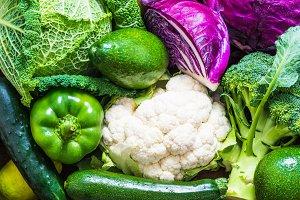 Vegetables background.