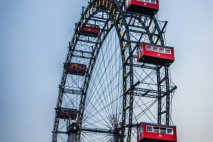 Famous observation wheel in vienna