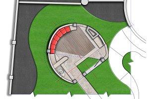 Landscaping patio master plan