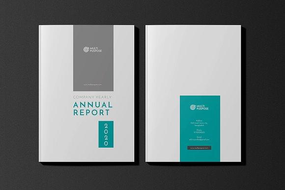 Annual Report Template V13 Brochure Templates Creative Market – Annual Report Template Word