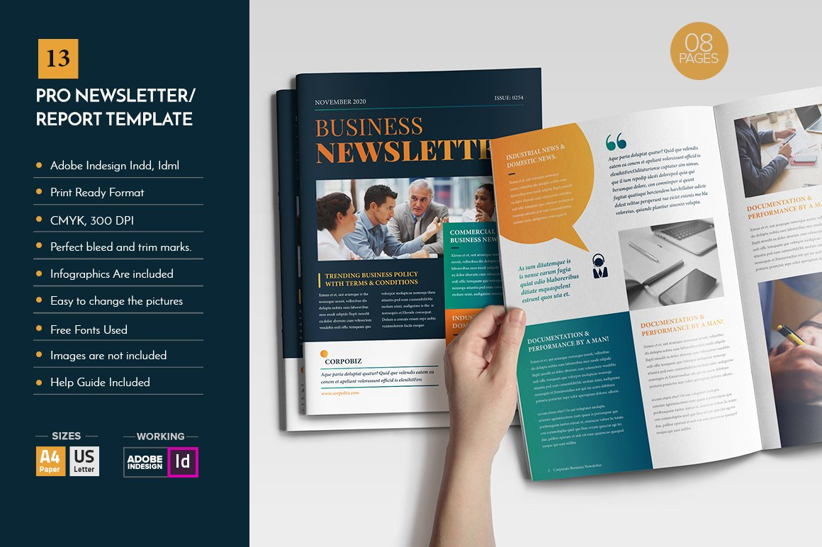 professional newsletter template v12 brochure templates creative