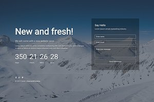Dakik-Responsive Coming Soon Theme