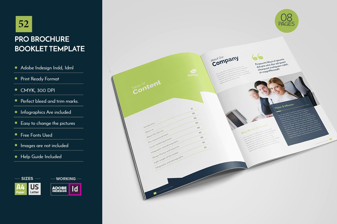 Professional brochure template v52 brochure templates for Booklet brochure template