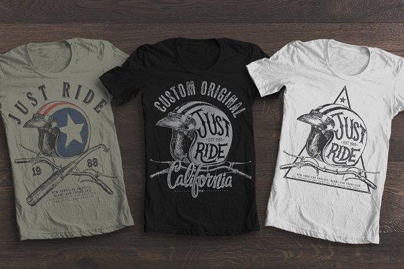 Just Ride T Shirt Print