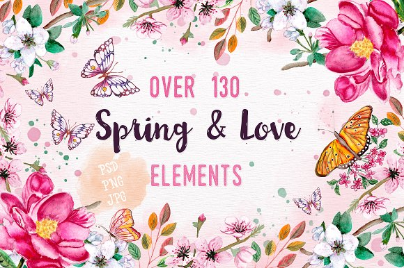 130 Spring And Love Elements