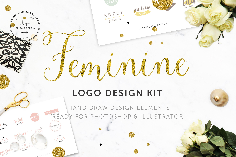 Popular Feminine Logo Design Kit ! ~ Logo Templates ~ Creative Market PX61