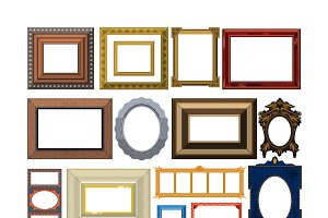 Picture frame vector set