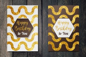 Happy Birthday Golden cards