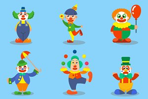 Vector clown characters
