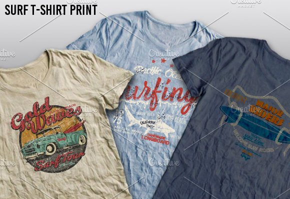 Surf Print Vector Set