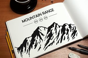 Vector Mountain Range Bundle.