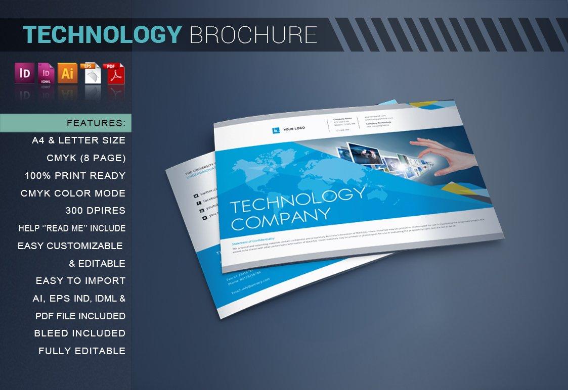 Technology brochure catalog brochure templates for Technical brochure template