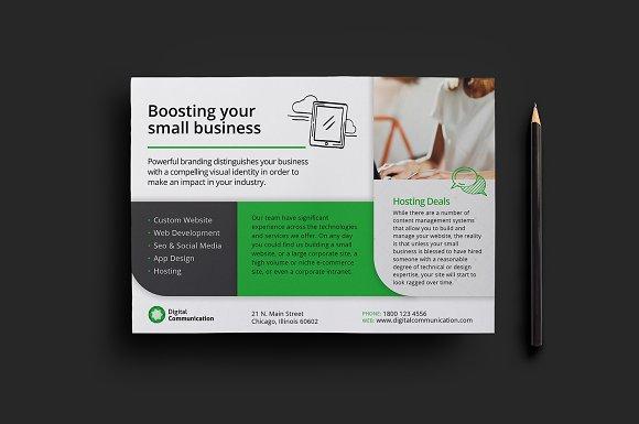 Web Designer Flyer Template v2 Flyer Templates on Creative Market – Web Flyer Template