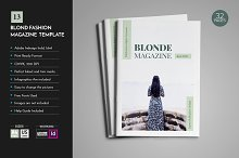Blonde Magazine Template V13