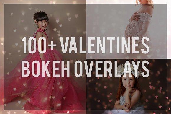 Bundle 100 Valentine Bokeh Overlays