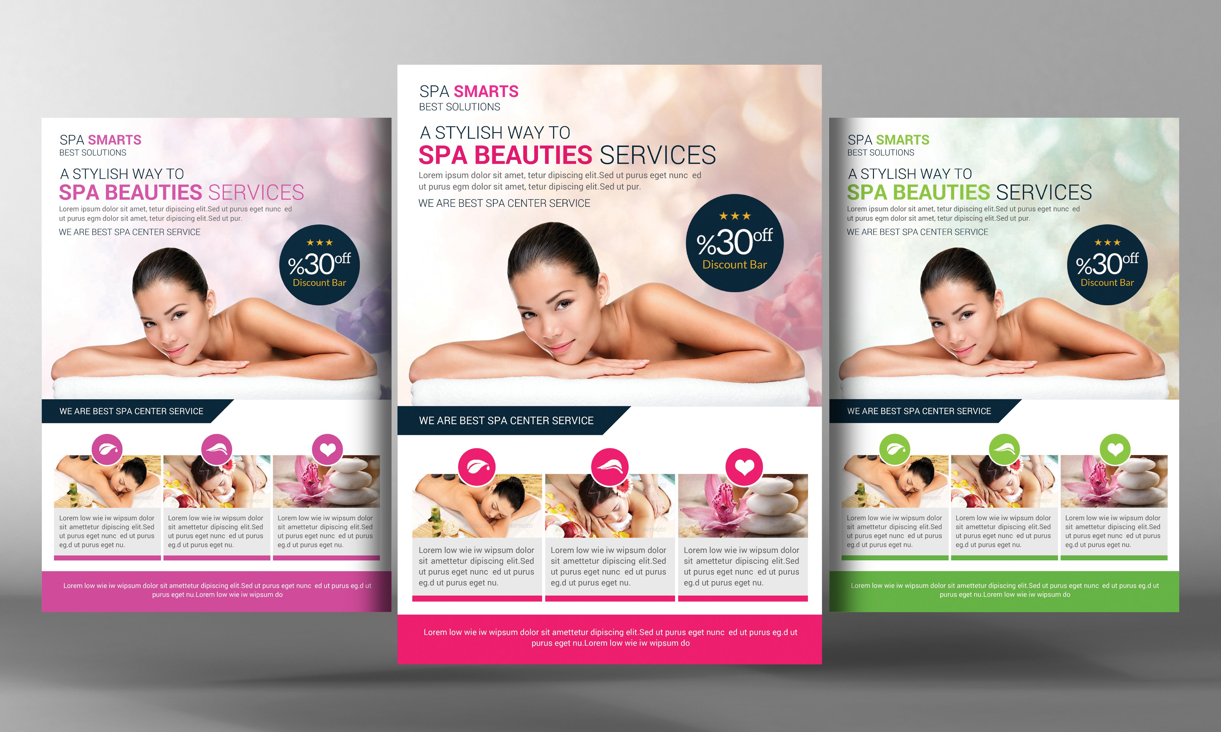 Dream Spa Flyer Template Flyer Templates Creative Market – Spa Brochure Template
