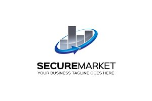 SecureMarket Logo Template