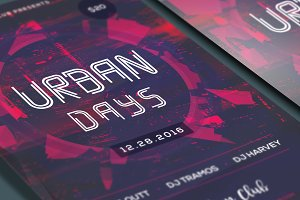 Urban Days Party Flyer