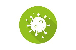 Virus cell icon. Vector