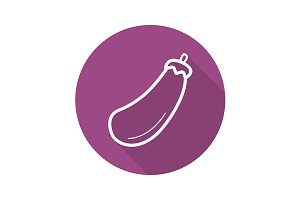 Eggplant icon. Vector