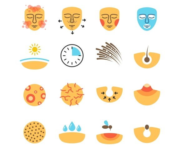Skin Face Problems Icons