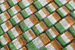 Ireland Flag Urban Grunge Pattern