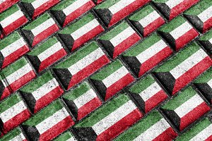 Kuwait Flag Urban Grunge Pattern