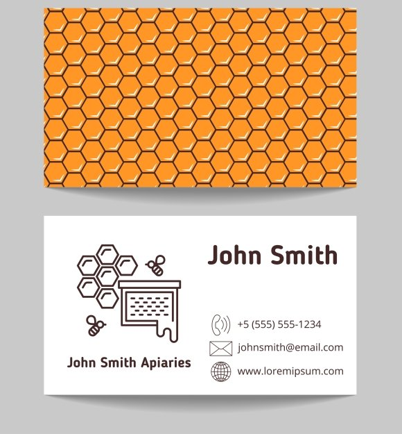 Beekeeper Business Cards And Pattern