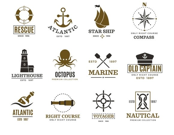 Vintage Nautical Marine Logos