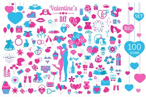 Valentines day BIG SET 100 icons