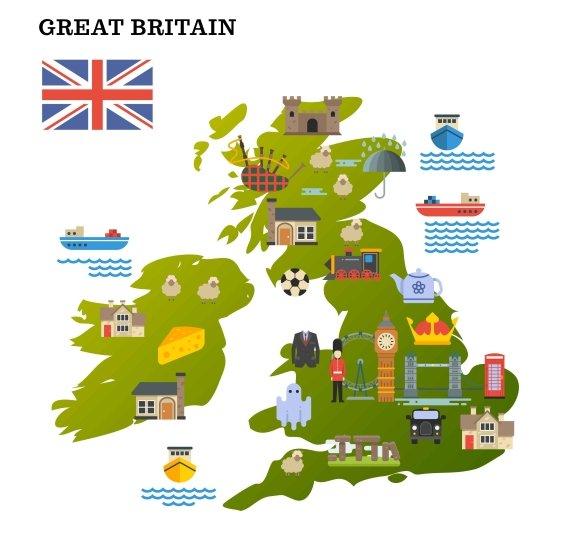 United Kingdom Travel Map