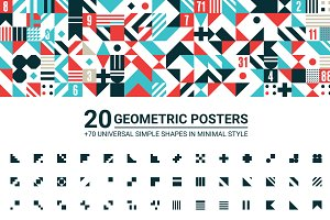20 GEOMETRIC POSTERS & 70 SHAPES