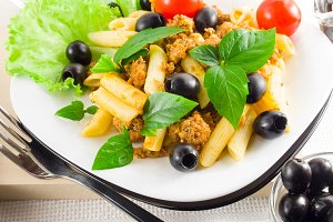 Italian pasta with bolognese