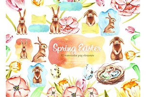 Spring Bunny Easter clipart
