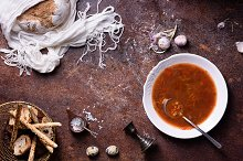 Vegetable spanish gazpacho soup