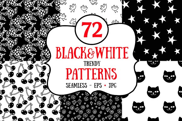 72 Black And White Patterns