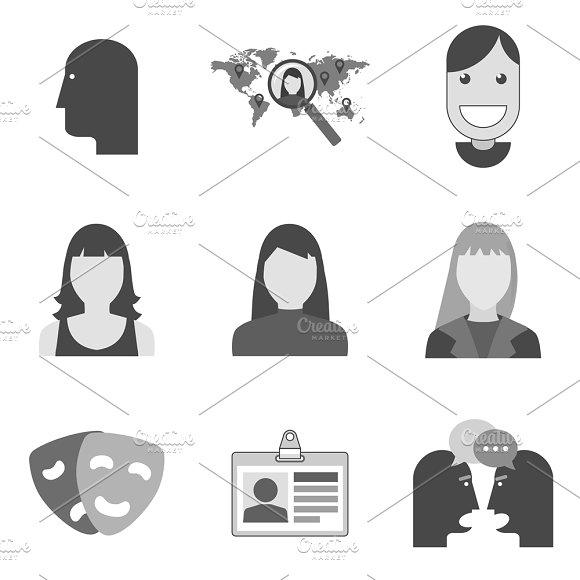 Nine Flat Icons Set 9 23