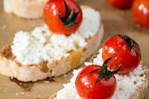 Tomato ricotta bruschetta