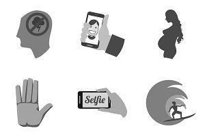 Nine Flat Icons. Set 14/23