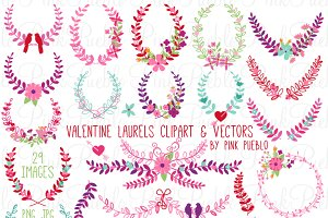 Valentine's Day Laurels and Wreaths