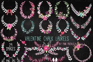 Chalkboard Valentine's Day Laurels