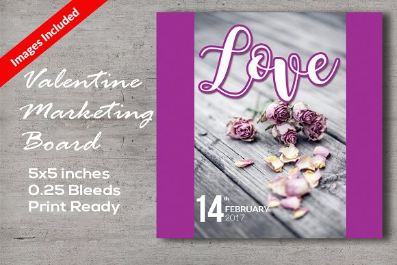 Valentine's Marketing Board Cards