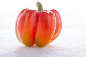 Fresh Red Pepper on white background