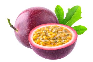 Isolated passion fruits