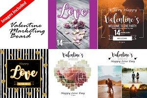 5 Valentine Marketing Board & Cards
