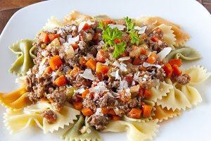 Pasta with bolognaise sauce