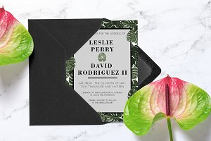 Tropical Monstera Invitation