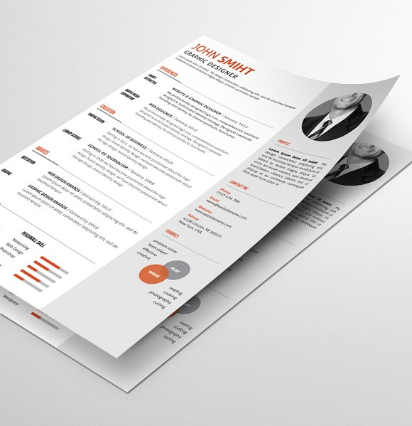 Resume/CV in Resume Templates - product preview 2