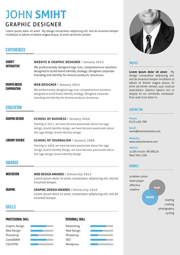 Resume/CV in Resume Templates - product preview 4