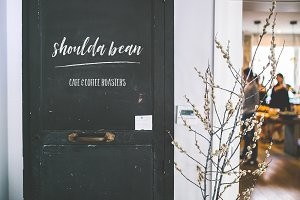 Cafe Blackboard mockup